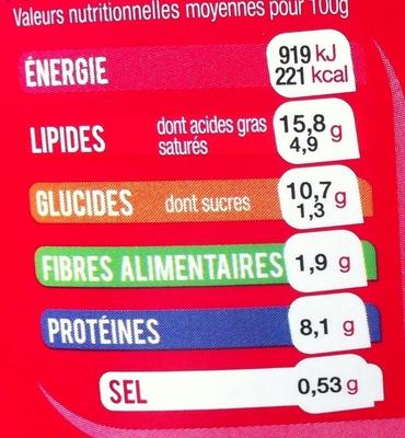 Maxi Salade 3 Fromages (Bleu, Mozzarella, Emmental) Penne - Informations nutritionnelles