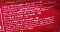 Salade & Serpentini Poulet Emmental Tomates Crudités sauce au parmesan - Ingrédients