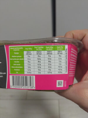 Salade Bol Chèvre Mix - Informations nutritionnelles - fr