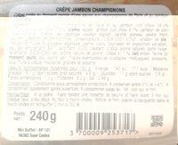 Crêpe de froment - Nutrition facts