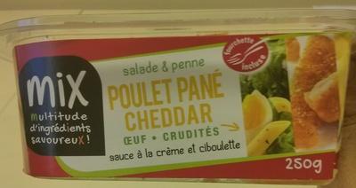 Salade & Penne Poulet pané Cheddar Oeuf Crudités - Product - fr