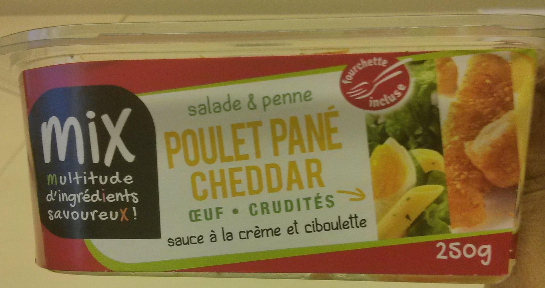 Salade & Penne Poulet pané Cheddar Oeuf Crudités - Produit - fr