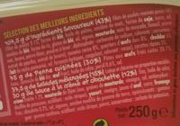 Salade & Penne Poulet pané Cheddar Oeuf Crudités - Ingredients - fr