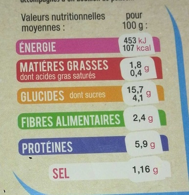 St Jacques marinées serpentini - Nutrition facts - fr