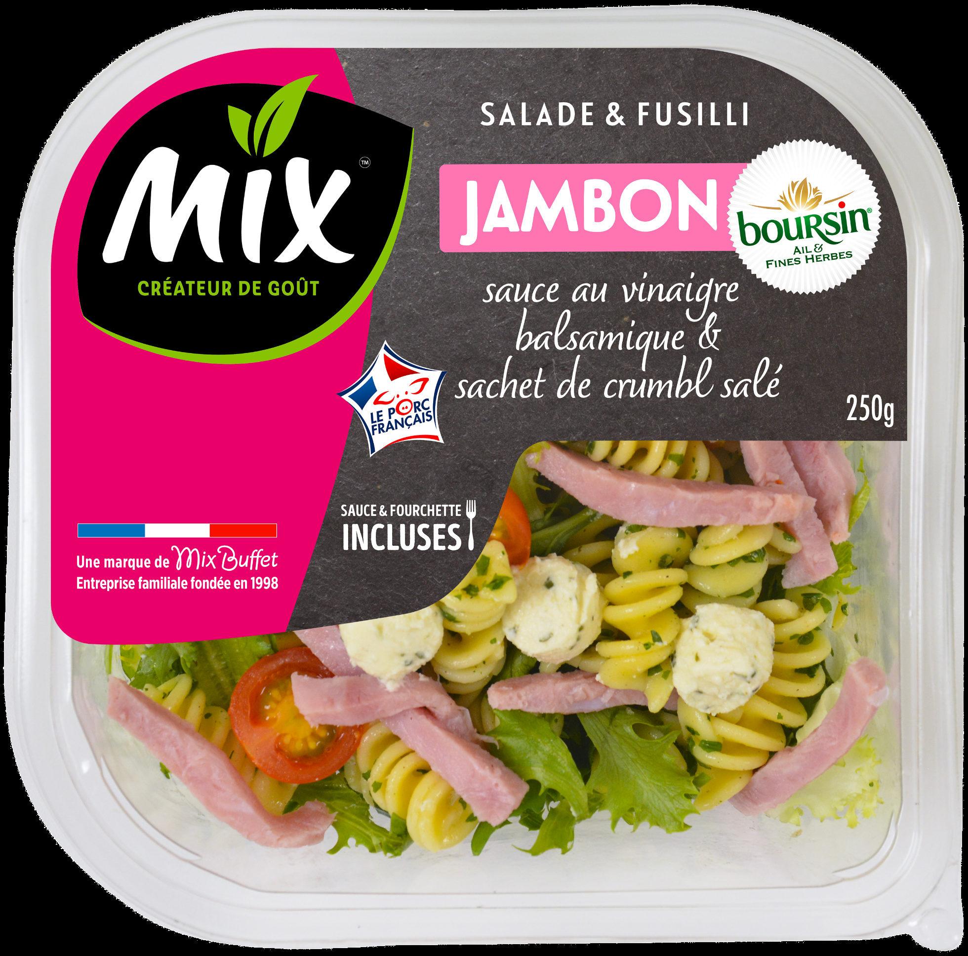 Salade&fusilli jambon fromage boursin - Product