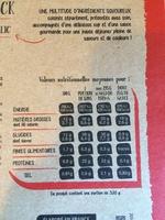 Salade Mezze Chiffonnade de Speck, 320g - Informations nutritionnelles - fr