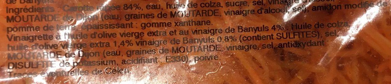 Carottes Râpées et Vinaigrette au Vinaigre de Banyuls - Ingrediënten