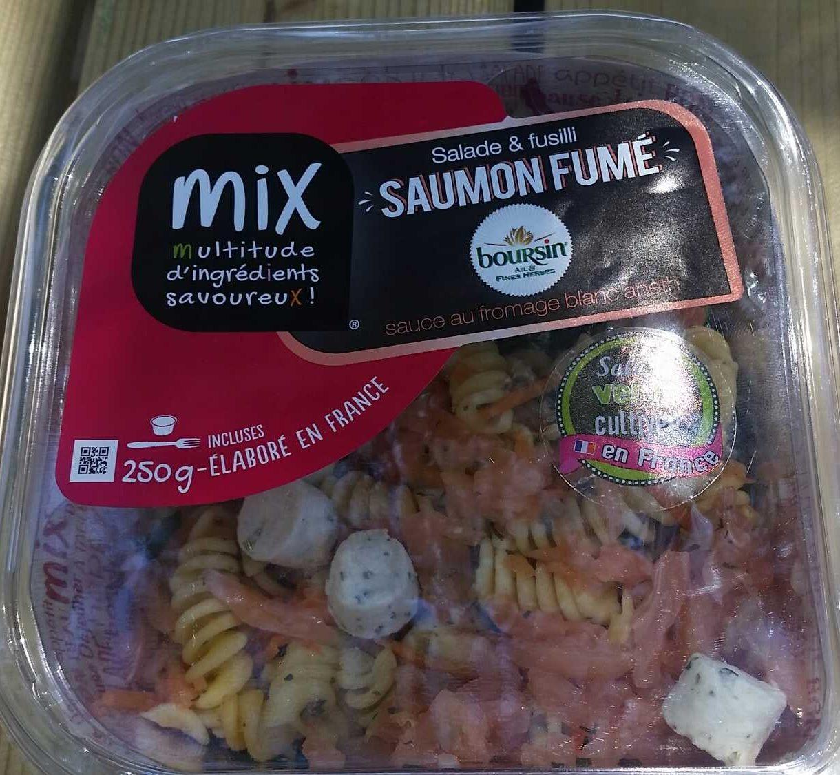 Salade et fusilli saumon fumé - Product - fr