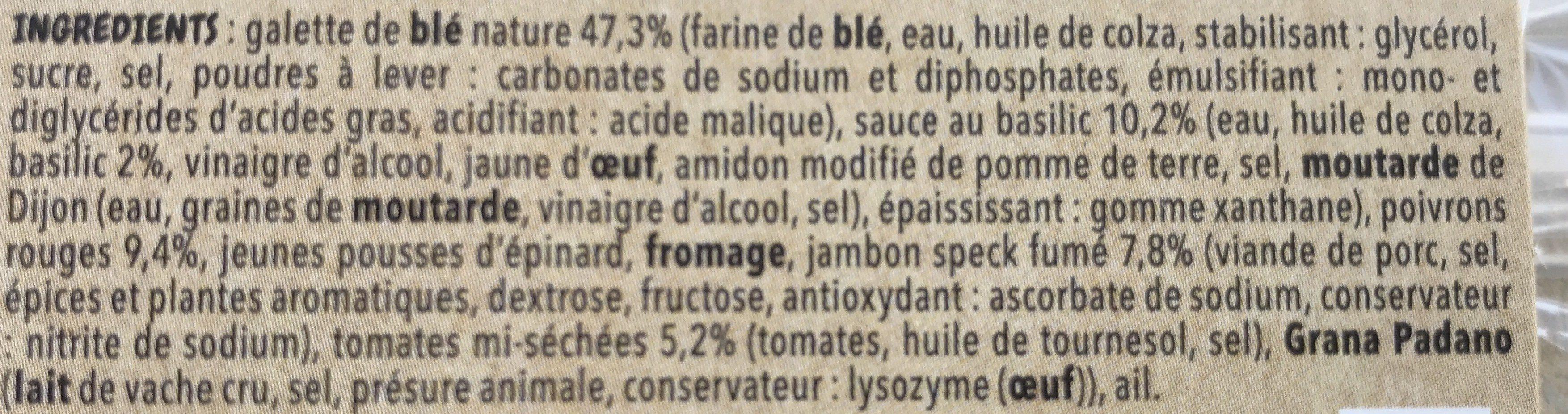 Wrap Jambon Speck, - Ingrédients - fr