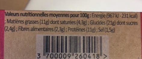 Wrap Jambon Speck, 190g - Voedingswaarden - fr