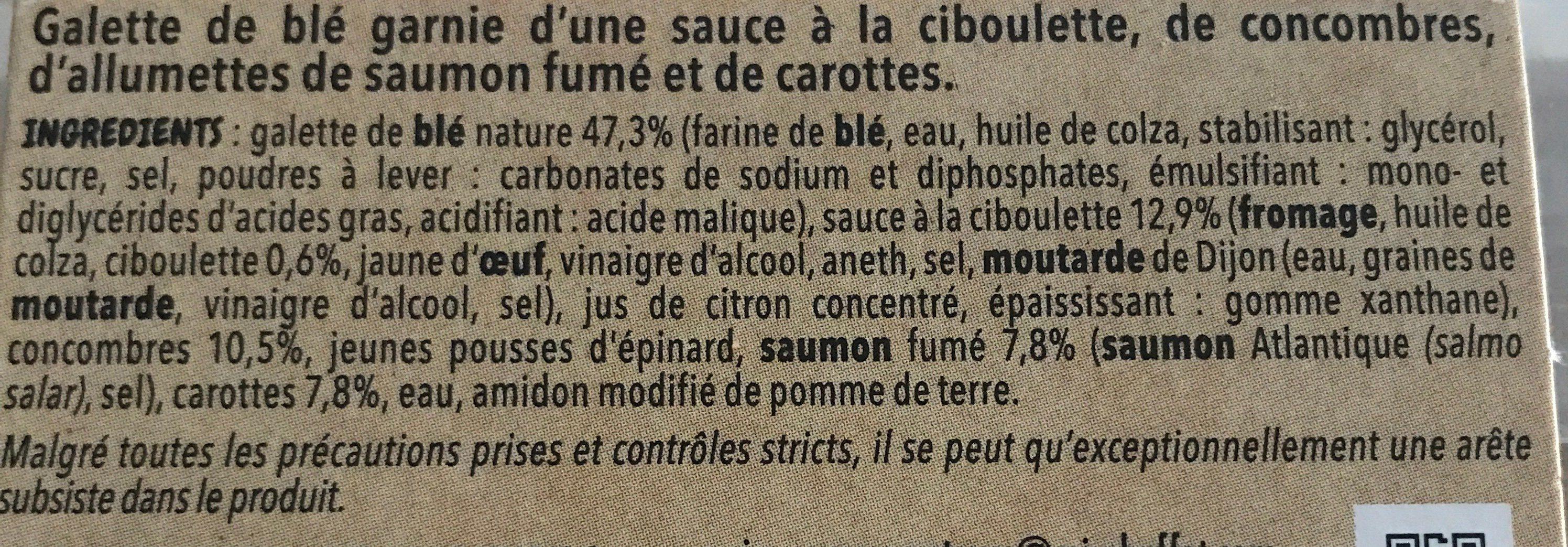 Wrap saumon fumé - Ingrédients