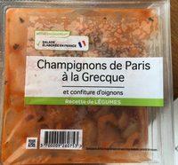 Champignon de Paris à la Grecque et Confiture d'Oignons - Produit