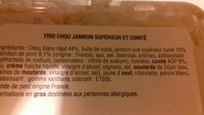 Trio chou jambon supérieure - Ingrédients - fr