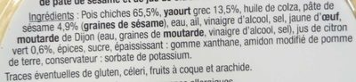 Houmous au yaourt grec - Ingredients - fr