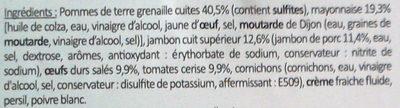 L'inimitable Parisienne - Ingrédients