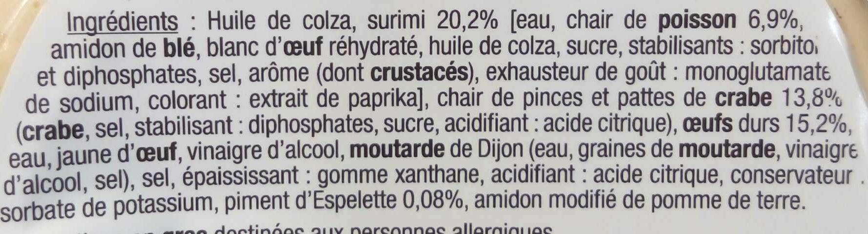 Surimi et Crabe au Piment d'Espelette - Ingrédients - fr