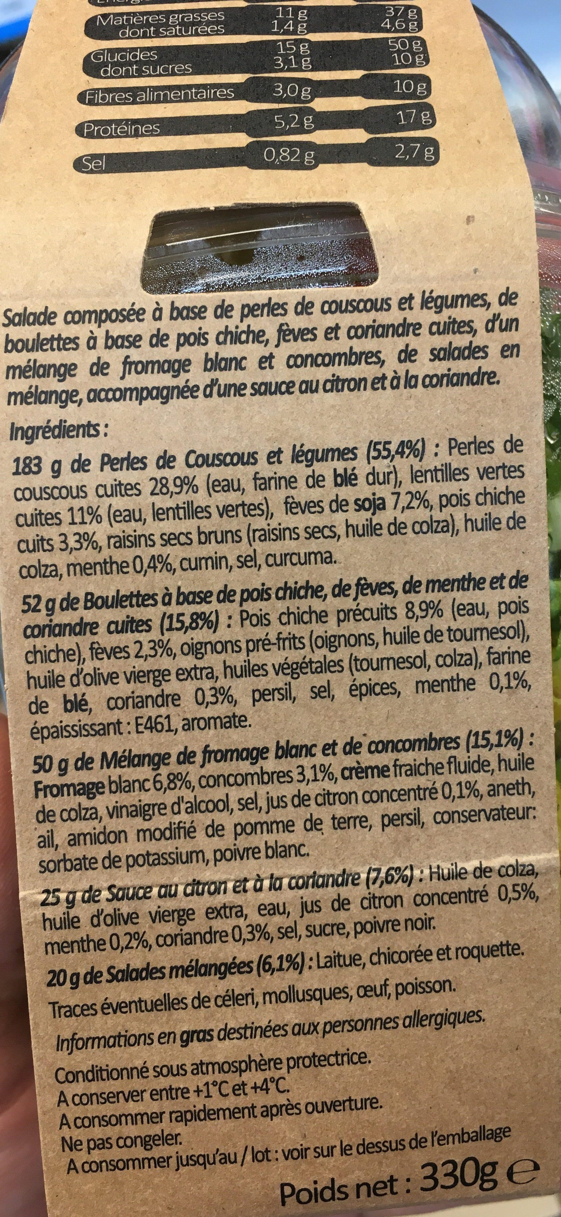 Falafel menthe - Ingredients