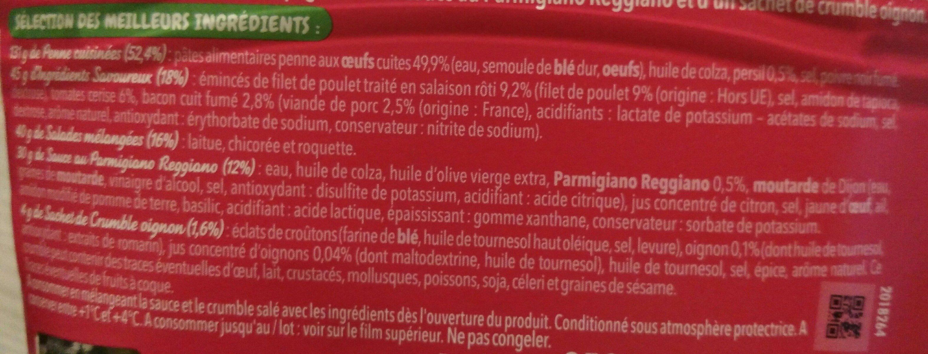 Salade Bol Poulet Bacon - Ingrédients - fr