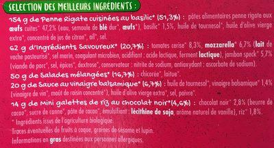 Jambon Speck Mozzarella bio - Ingrédients - fr