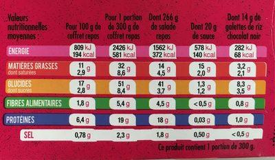 Jambon Speck Mozzarella bio - Informations nutritionnelles - fr
