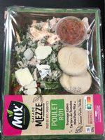 Salade Mezze Duo de riz crudités Poulet rôti, 320g - Produit