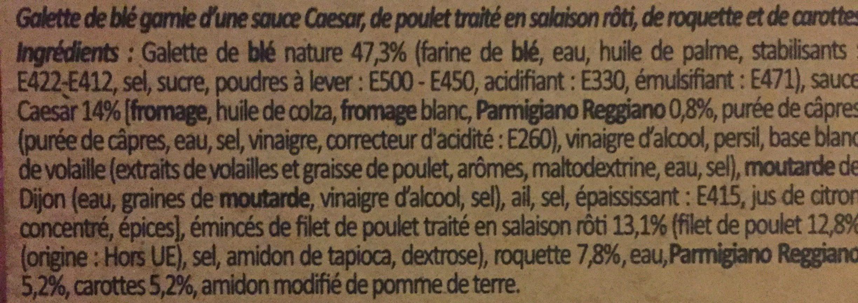 Côté Wrap Poulet Caesar - 成分 - fr