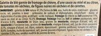 Côté Wrap Chèvre Figues, 190g - Ingrédients - fr