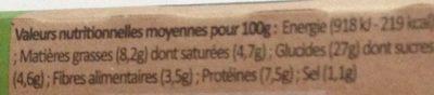 Côté Wrap Chèvre Figues, 190g - Informations nutritionnelles - fr