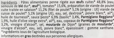 Salade Poulet Pesto Bio - Ingrédients