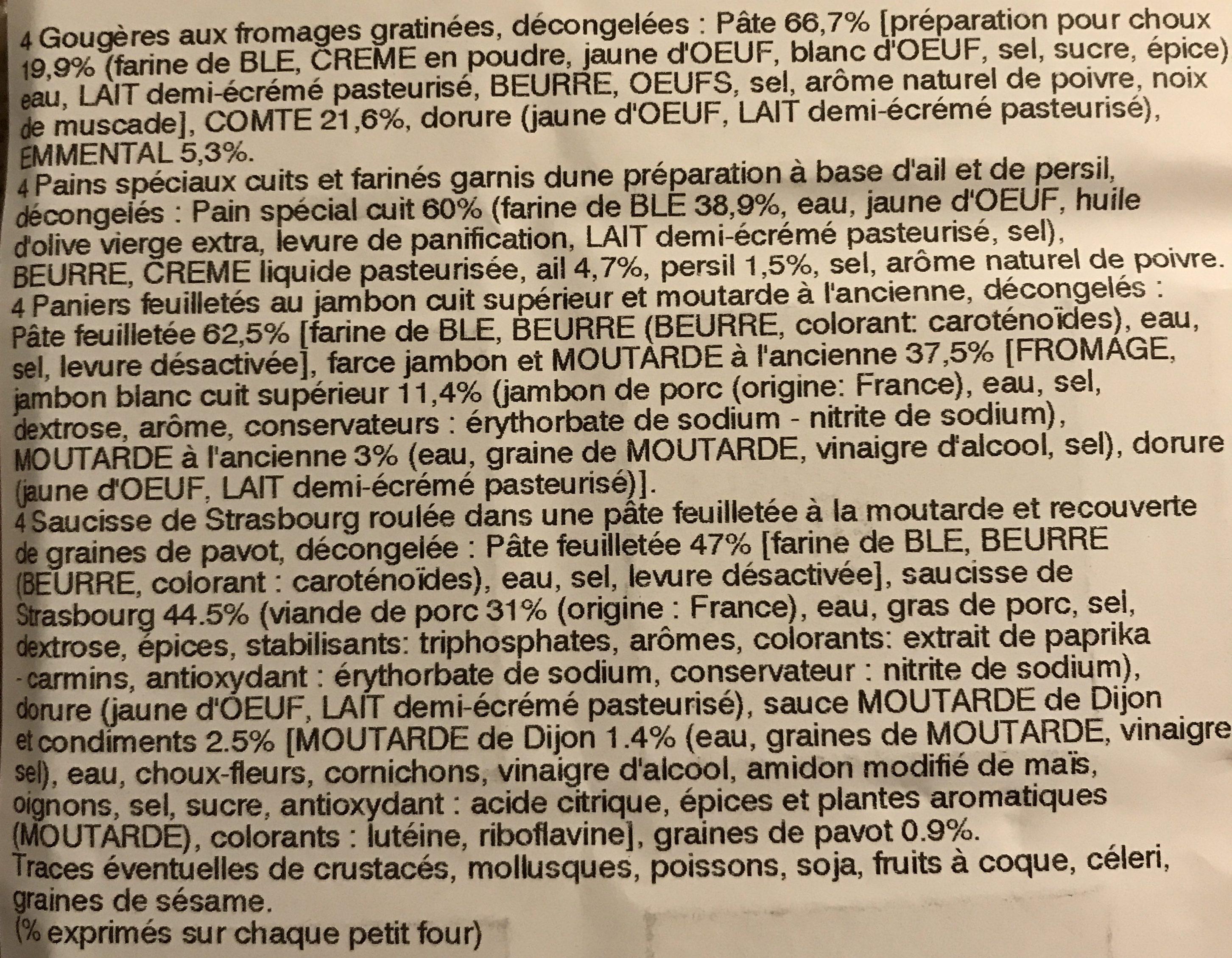 Petits fours assortiment Mix Buffet - Ingrediënten - fr