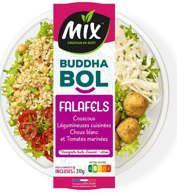 Buddha bol Falafels, couscous et chou blanc - Ingrédients - fr