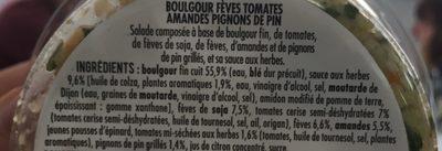Boulgour, fèves, tomates, amandes sauce aux herbes - Ingrédients - fr