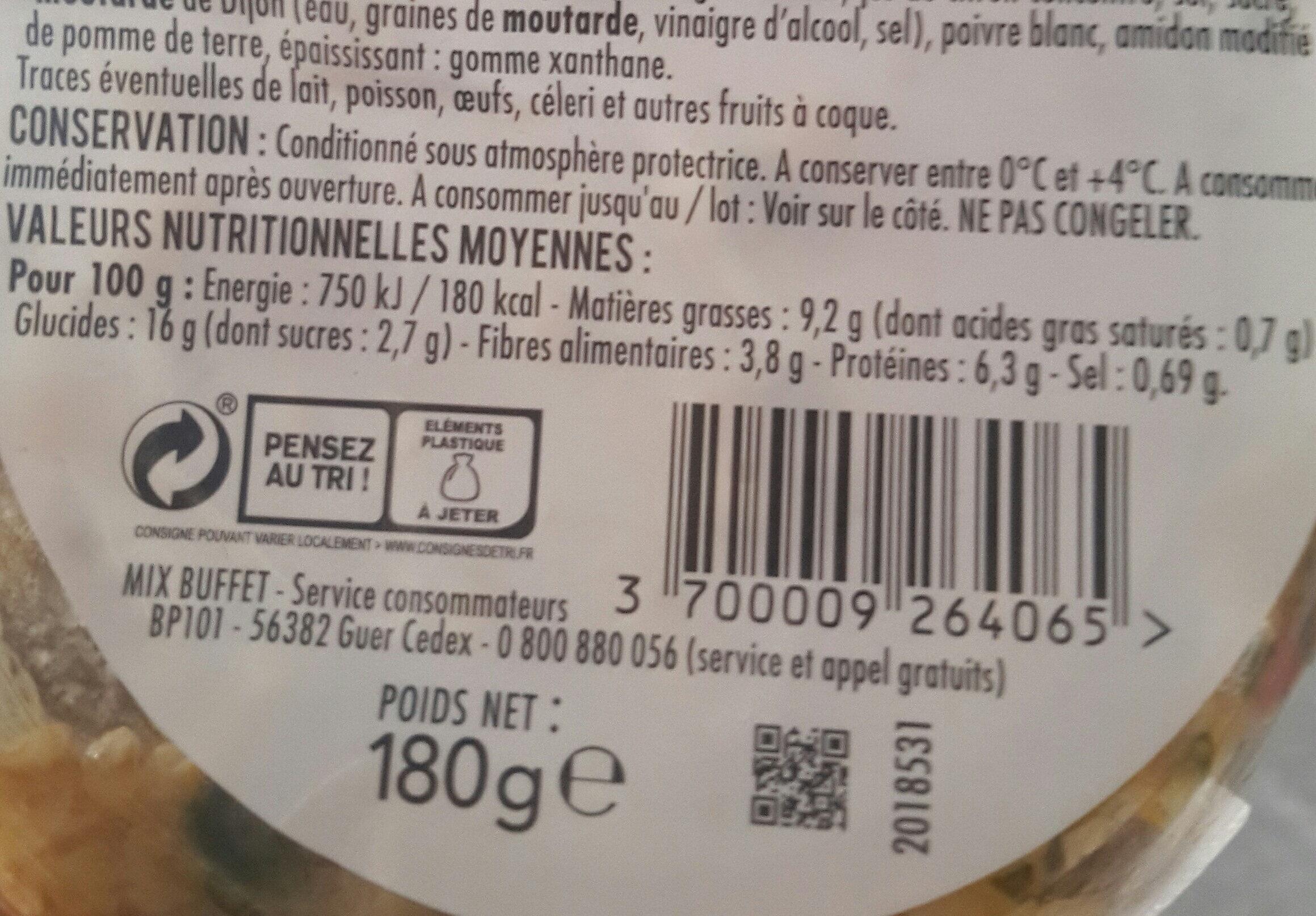 Boulgour, fèves, tomates, amandes sauce aux herbes - Informations nutritionnelles - fr