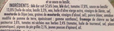 Salade Veggie blé chèvre - Ingrédients