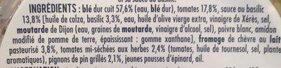 Salade Veggie blé chèvre - Informations nutritionnelles