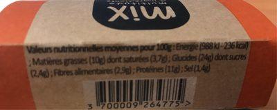 Wrap Poulet Bacon, 190g - Informations nutritionnelles - fr