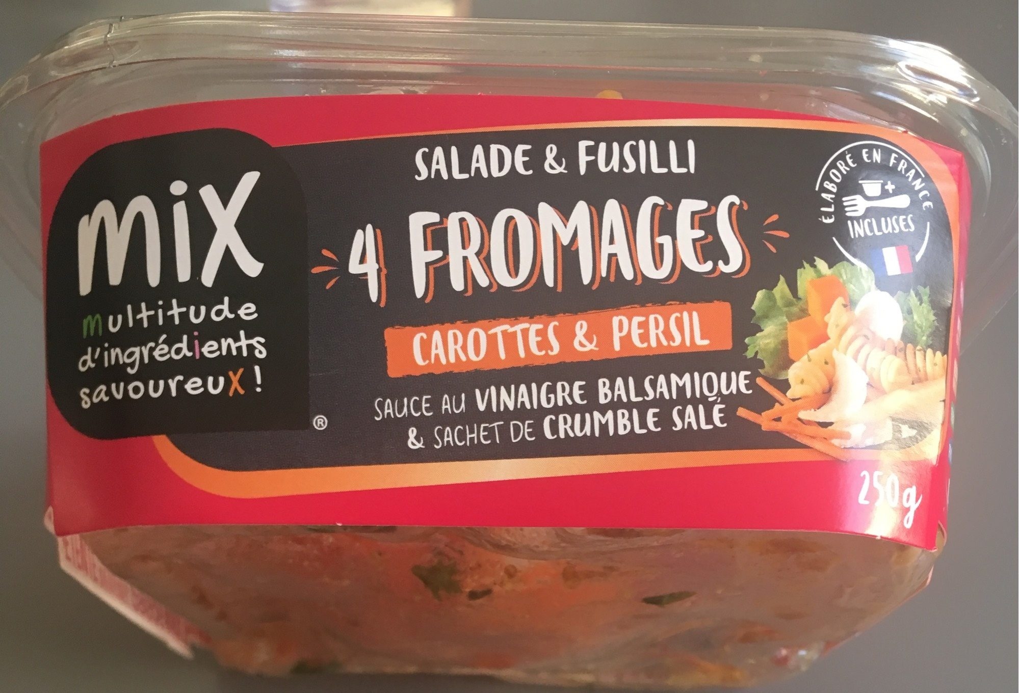 Salade et fusilli 4 fromages - Produit - fr
