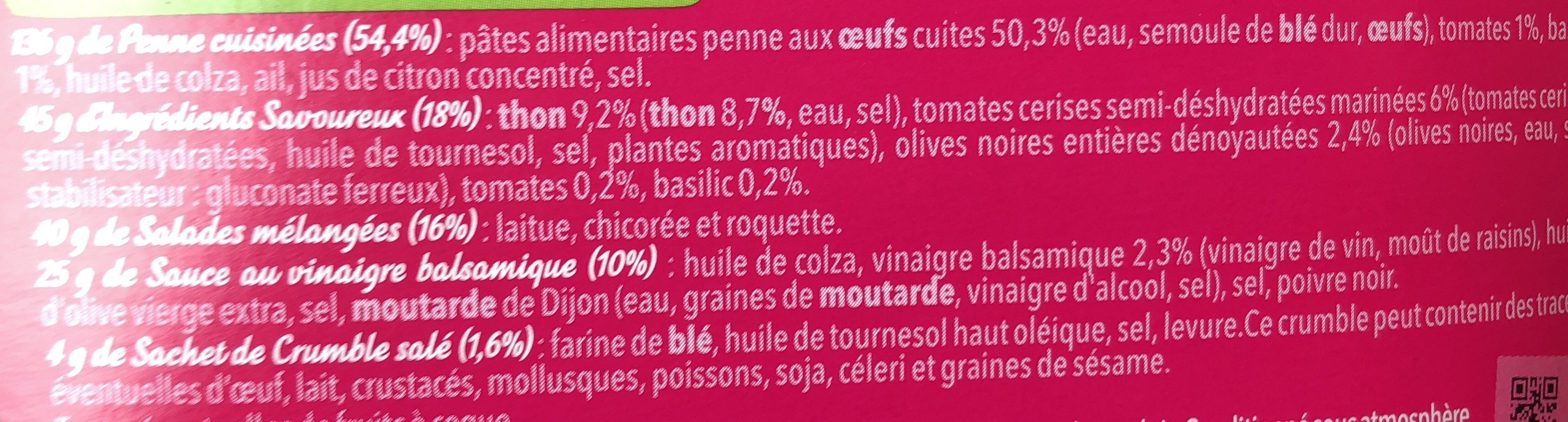 Salade & Penne Thon, 250g - Ingredients