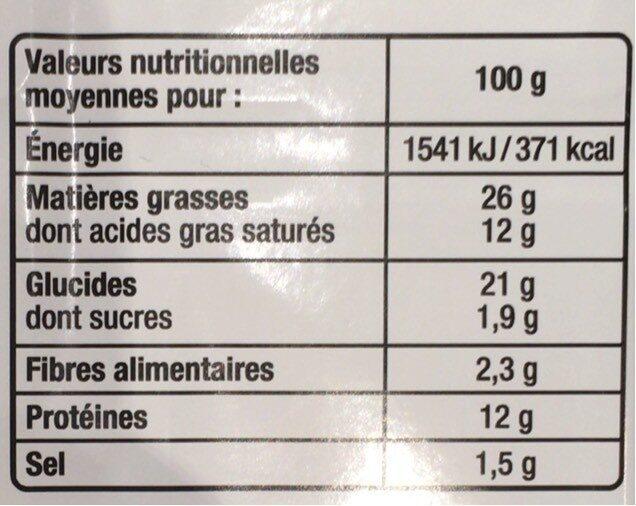 Petits fours - Informations nutritionnelles - fr