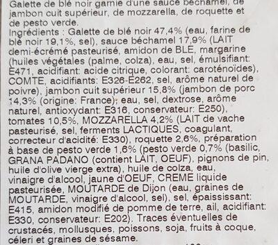 Galette chiffonnade de jambon et tomates - Ingrediënten - fr