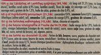 Salade collection Zen, Saumon Fumé, 320g - Ingrédients - fr
