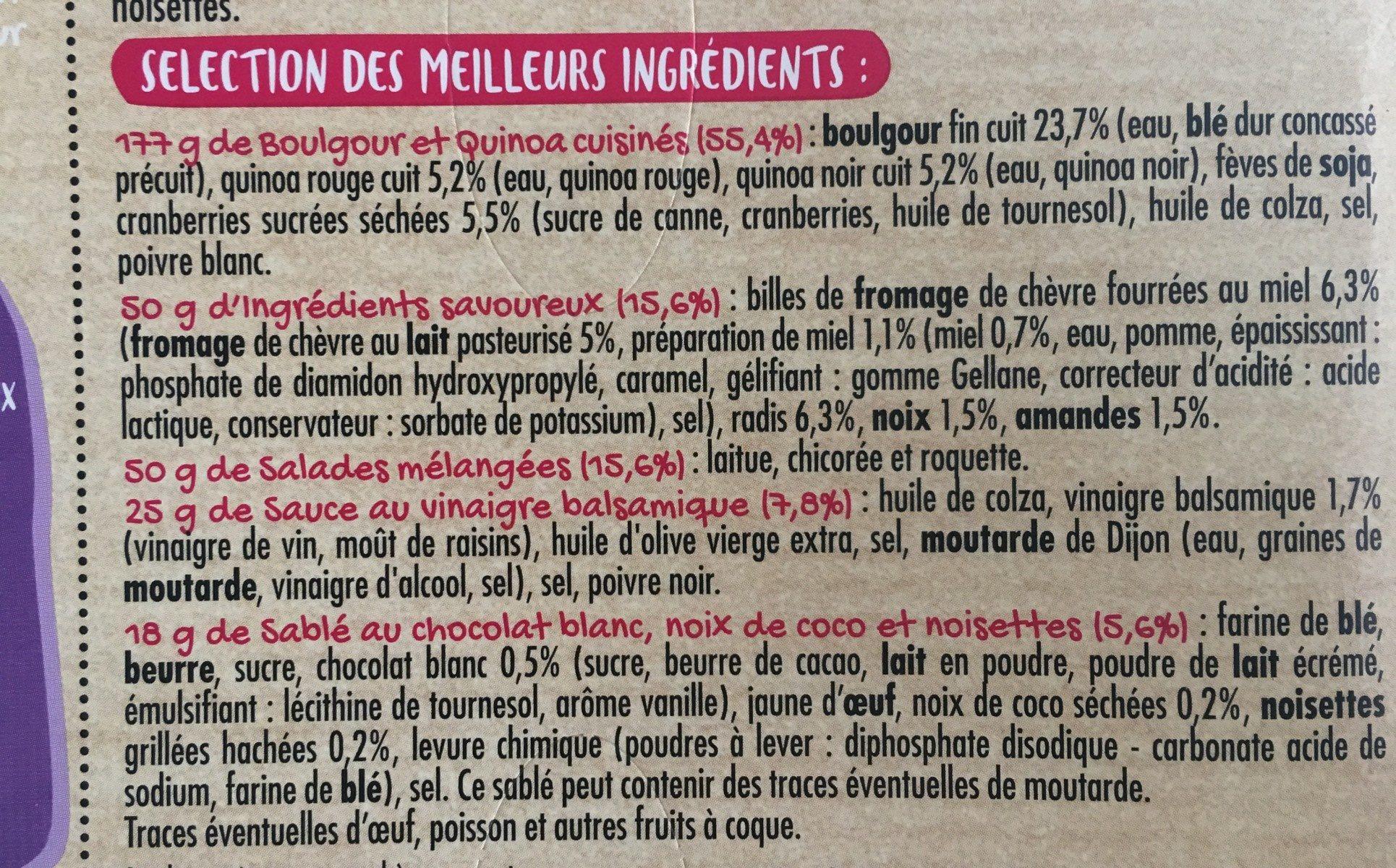 Salade collection, Délicieux & Insolite, Billes Chèvre Miel, 320g - Ingrédients - fr