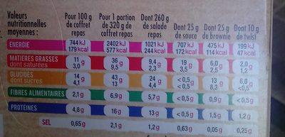 Salade saumon fumé - Nutrition facts