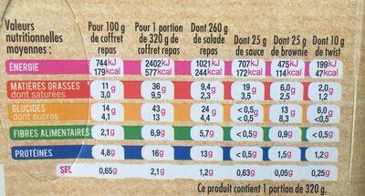 Salade saumon fumé - Informations nutritionnelles - fr