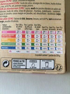 Salade Coffret Jambon Supérieur, 320g - Nutrition facts - fr