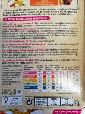 Salade Coffret Poulet Rôti - Ingrédients - fr
