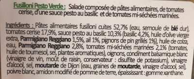 Fusilloni Pesto Verde, 250g - Ingrédients - fr