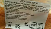 Carottes finement râpées au jus de citron - Ingrédients - fr