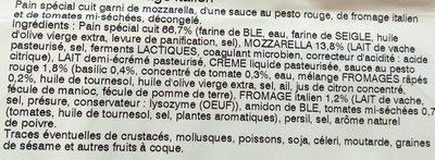 Pain Hérisson - Italien - Mozzarella & Fromage Italien - Ingrediënten