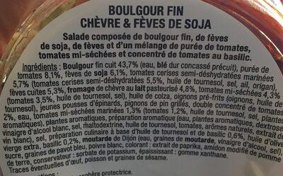 Boulgour fin chevre et feves de soja - Ingrediënten - fr